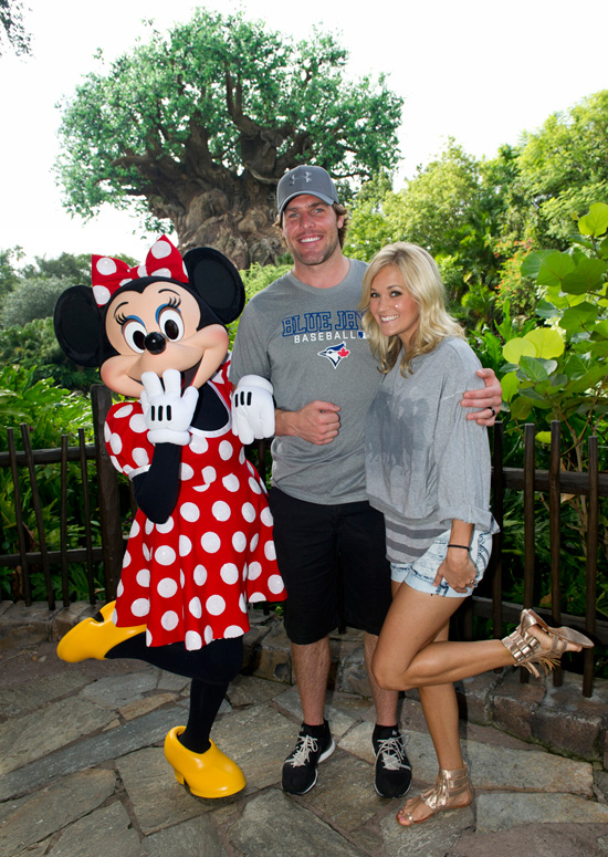 Carrie Underwood and Mike Fisher Meet Minnie Mouse at Walt Disney World Resort