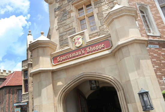 The Sportsmans Shoppe at the United Kingdom Pavilion in Epcot