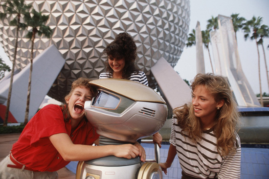Caption This: Visiting Robots at Epcot