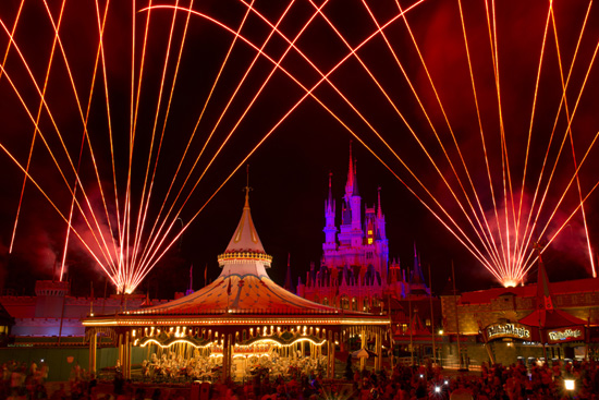 Disney Parks After Dark: Fireworks at the Castle at Magic Kingdom Park