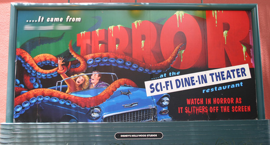Finish That Disney Parks Sign: Sci-Fi Dine-In Theater Restaurant at Disney's Hollywood Studios