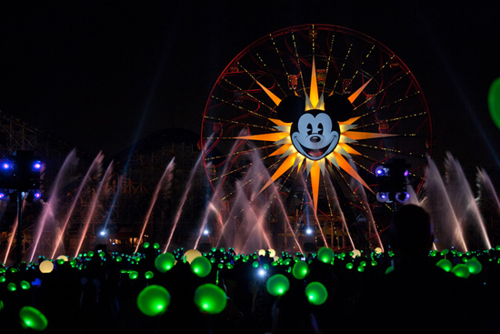 Glow With the Show Ears in Action During 'World of Color' at Disney California Adventure Park