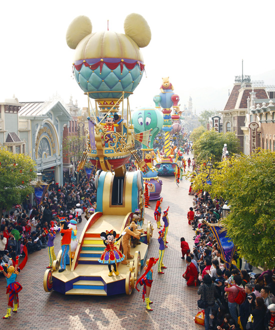 Disney's Flight of Fantasy Parade at Hong Kong Disneyland