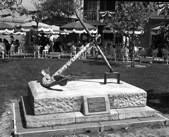 Lafitte's Anchor in Frontierland at Disneyland Park in 1955