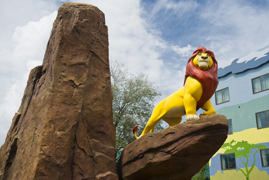 Step Into the Adventure with Simba in the Lion King Courtyard at Disney's Art of Animation Resort