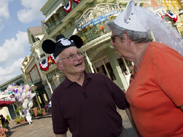 World War II Veteran and Purple Heart Recipient Louis Lessure and His Wife Sally Visit Magic Kingdom Park