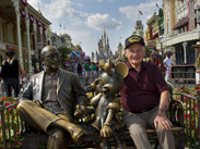 World War II Veteran and Purple Heart Recipient Louis Lessure Visits Magic Kingdom Park