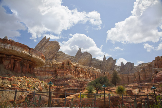 Ornament Valley in Cars Land at Disney California Adventure Park