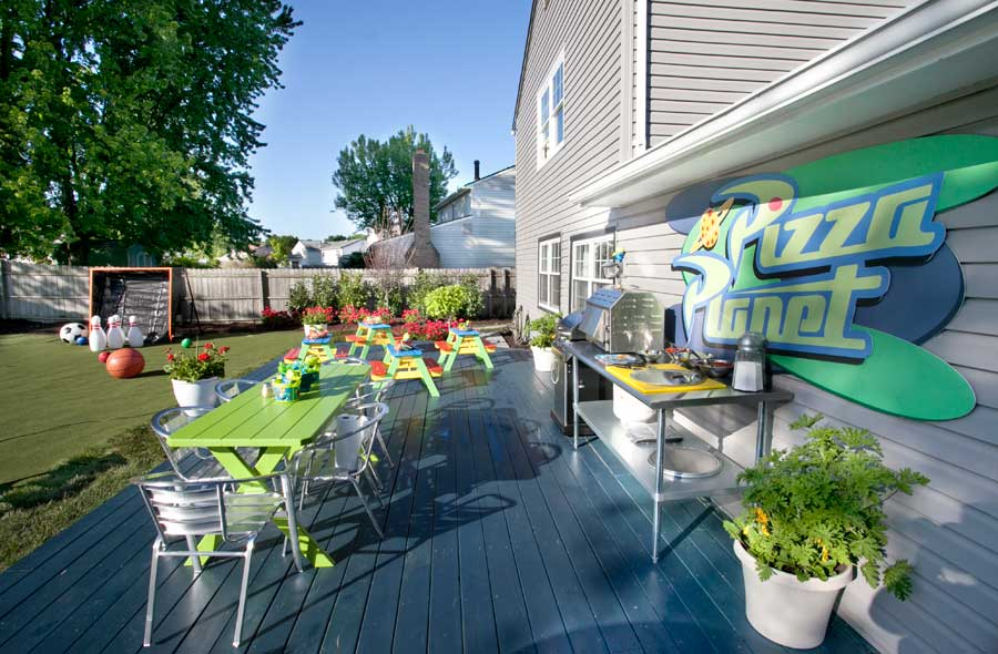 The Brown Family Gets a Backyard Makeover Inspired by Toy Story Mania and Disneys All-Star Sports Resort on HGTVs'My Yard Goes Disney'