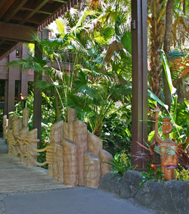The Entrance to Disney's Polynesian Resort at Walt Disney World Resort