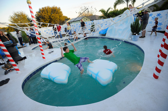 'My Yard Goes Disney': A Blizzard Beach-Meets-Brooklyn Backyard