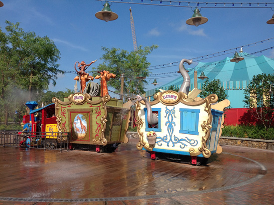 Casey Jr. Splash 'N' Soak Station in New Fantasyland at Magic Kingdom Park
