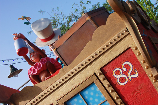 Colorful Train Cars at Casey Jr. Splash 'N' Soak Station in New Fantasyland at Magic Kingdom Park