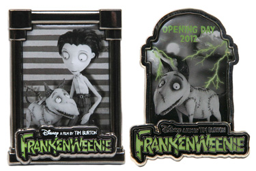 Frankenweenie Pins Coming to Disney California Adventure Park