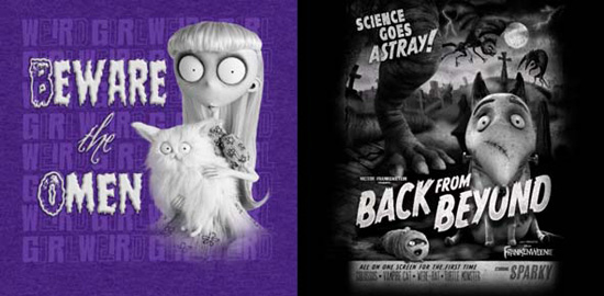 Artwork for Frankenweenie-inspired Tees Coming to Disney California Adventure Park
