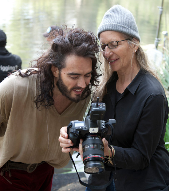 Russell Brand Behind the Scenes of the Latest Disney Dream Portraits by Annie Liebovitz
