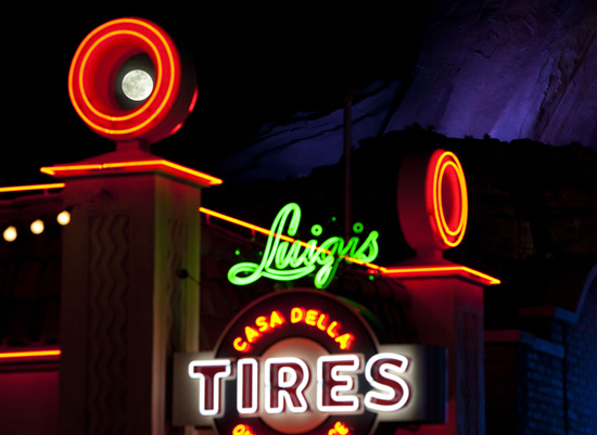 Disney Parks After Dark: Surprises in the Night Sky at Cars Land in Disney California Adventure Park