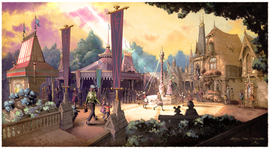 Artist Rendering of the New Fantasy Faire Coming to Disneyland Park in 2013