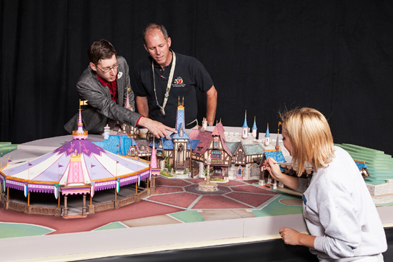 Walt Disney Imagineering Model for Fantasy Faire, Part of New Entertainment Experiences Coming to Fantasyland at Disneyland Park in 2013