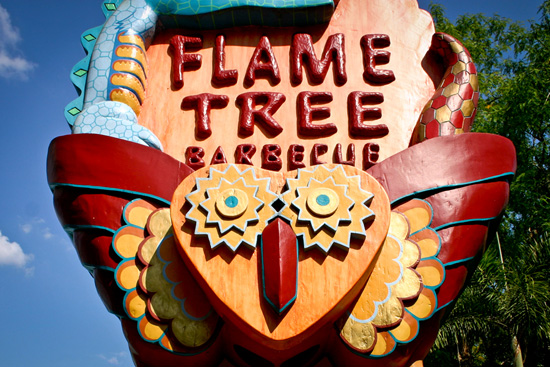 This Face Can Be Found at the Flame Tree Barbeque in Disneys Animal Kingdom Theme Park