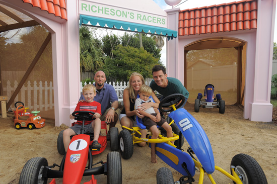 The Richesons Family Gets a Backyard Makeover Inspired by Cars Land on HGTV's'My Yard Goes Disney'