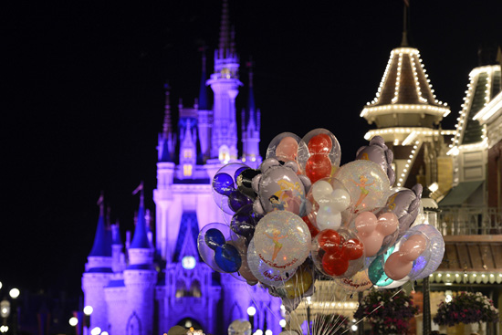 A Bouquet of Balloons at Magic Kingdom Park