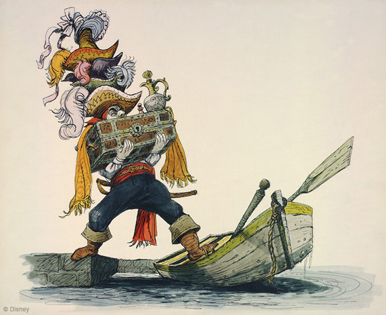 Artwork for Pirates of the Caribbean by Disney Legend Marc Davis