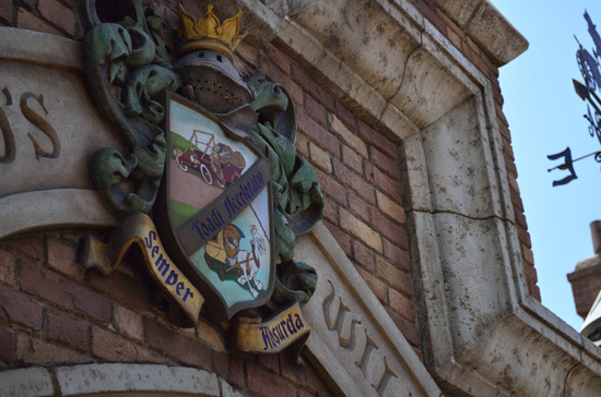 Mr. Toad's Family Crest at Disneyland Park