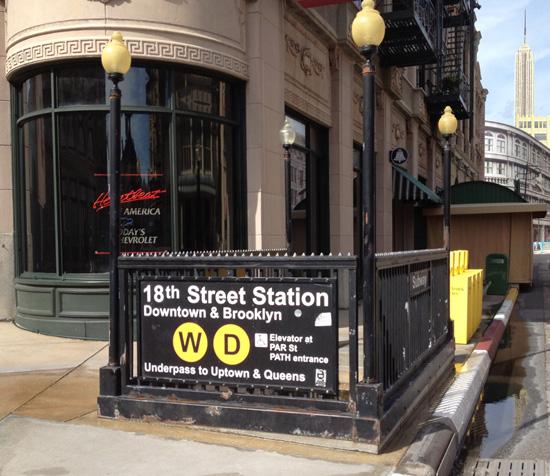 Subway Sign on New York Street at Disney's Hollywood Studios
