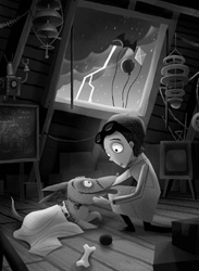 Frankenweenie Art Will Electrify You at Disney California Adventure Park