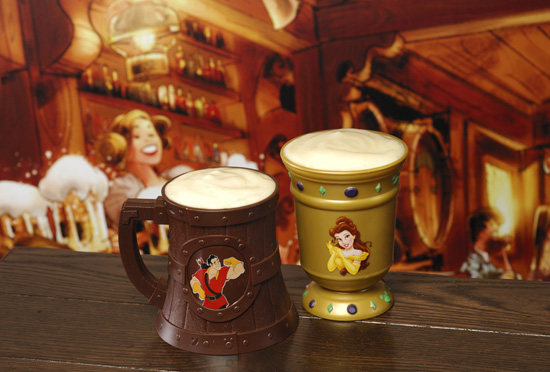 A Souvenir Stein and Goblet from Gastons Tavern in New Fantasyland