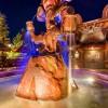 Fountain Outside Gaston's Tavern at Magic Kingdom Park