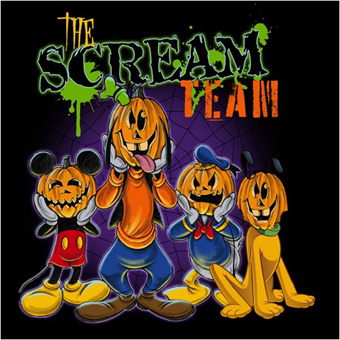 'Scream Team' Merchandise Design at the Disneyland Resort