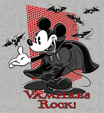 'Vampires Rock' Merchandise Design at the Disneyland Resort