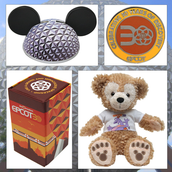 Commemorate the 30th Anniversary of Epcot With New Merchandise, Including Open Edition Pins, the Baseball Cap, and the Toothpick Holder Set, and a 12-inch Duffy the Disney Bear, Starting September 28