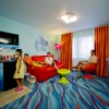 The Finding Nemo courtyard offers 320 family suites, an impressive Big Blue Pool and kids' water play area. Character icons that can't be missed here include Nemo, Marlin, Crush and Mr. Ray.