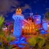 Prince Eric's Castle in New Fantasyland at Dusk