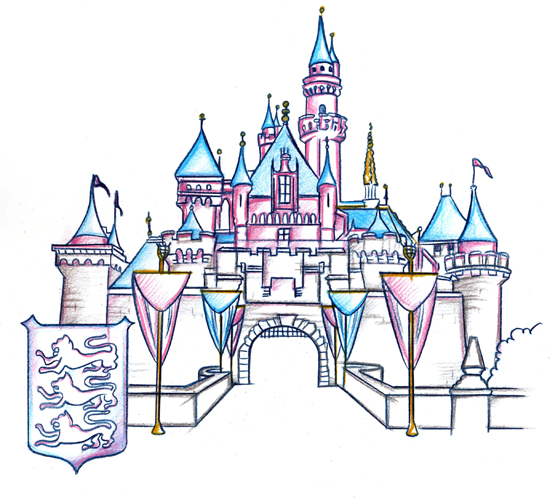 Sleeping Beauty Castle Included In The New Park Icon Sketch