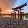 Disney Parks After Dark: Sunset at Epcot's Japan Pavilion