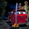 Disney Parks After Dark: Fire Trucks and Tow Trucks in Cars Land