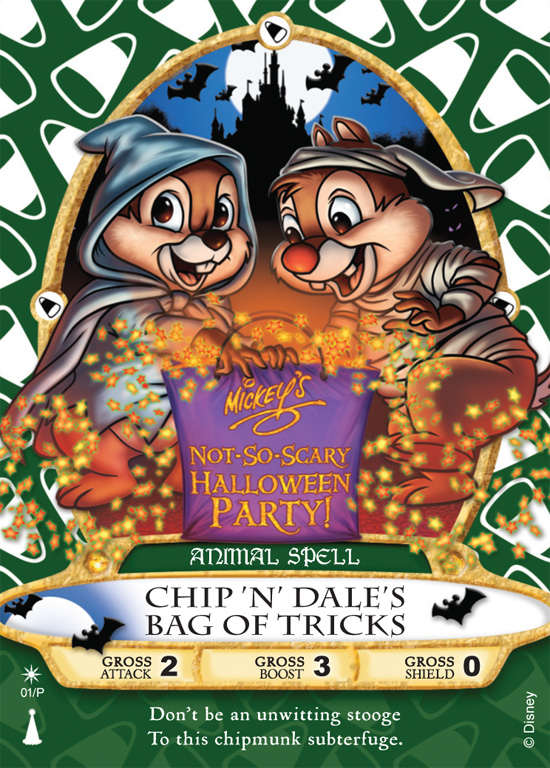 The 'Chip N Dales Bag of Tricks' Sorcerers of the Magic Kingdom Card, Available Only at Mickeys Not-So-Scary Halloween Party