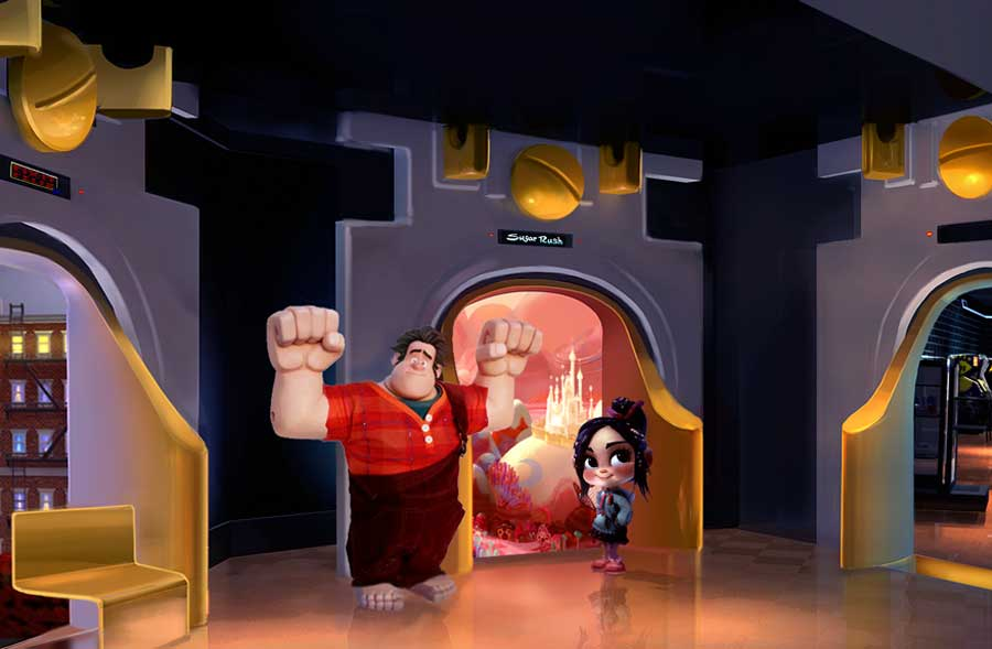 Wreck-it Ralph Disneyland Starcade Meet and Greet