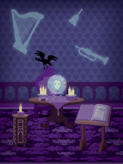 iPhone/Android Wallpaper Featuring Madame Leota in the Haunted Mansion