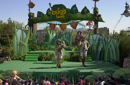 'a bug's land' Opened at Disney California Adventure Park on October 7, 2002