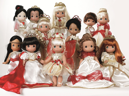Holiday Dolls from Precious Moments Doll Maker Linda Rick