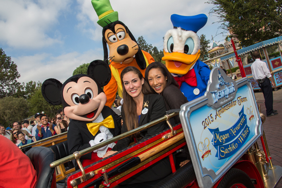 Cast Members Megan Navarette and Sachiko White Named as 2013-2014 Disneyland Resort Ambassador Team