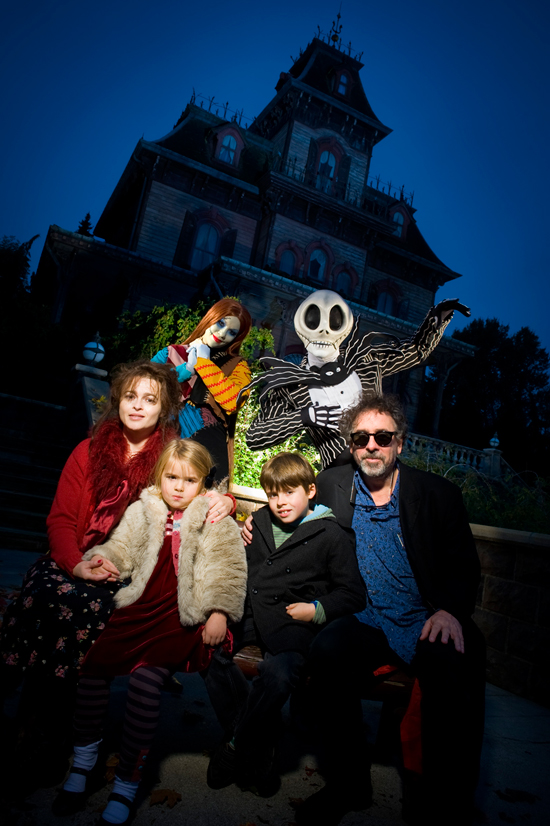 Tim Burton Visits Disneyland Paris to Celebrate 'Frankenweenie'