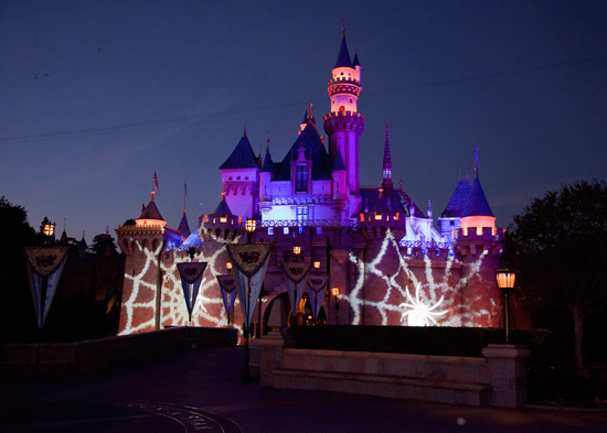 Sleeping Beauty Castle During Mickey's Halloween Party in Disneyland Park