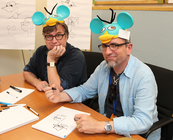 "The Co-Creators of ""Phineas & Ferb"" – Dan Povenmire and Jeff ""Swampy"" Marsh Visit Disney Design Group"