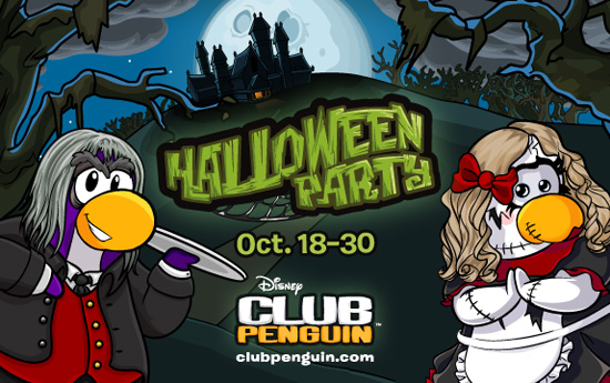 Haunted Mansion Attractions at Disney Parks Inspire Club Penguin Halloween Experience